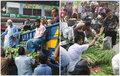 মাস্ক ছাড়াই চলছে কারওয়ান বাজারে বেচাকেনা