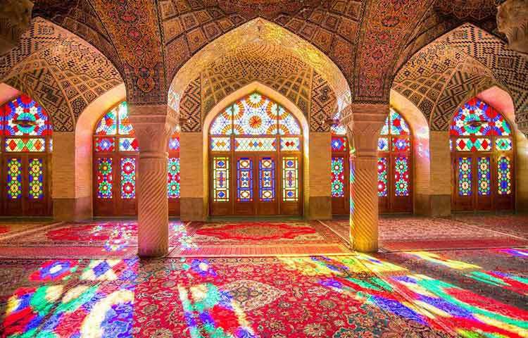 নাসির আল মুলক মসজিদ। ইরানে অবস্থিত এই মসজিদটি।