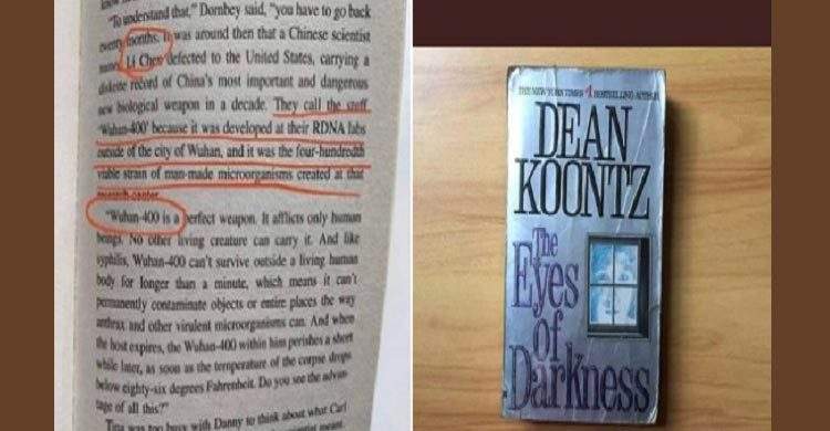 dean koontz book coronavirus
