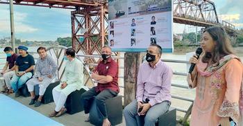 সুরমার তীরে 'রিভার টকি': নদীর প্রতি মানবিক হওয়ার আহ্বান