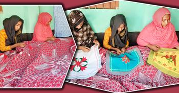 নকশী কাঁথায় ভাগ্যবদল, শাপলার অধীনে কাজ করেন ১৫০ নারী