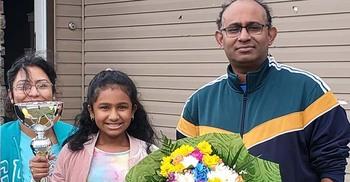 ইউএসএমএএস প্রতিযোগিতায় চ্যাম্পিয়ন বাংলাদেশি অধরা রাইমা