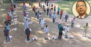করোনাকালে দাফতরিক ও মানবিক কাজে সময় যাচ্ছে আইনমন্ত্রীর