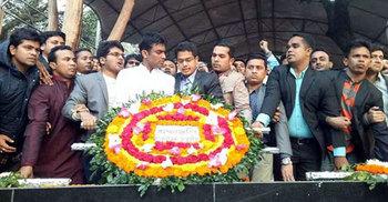 'জয় বাংলা, জয় বঙ্গবন্ধু' স্লোগানে মুখরিত বঙ্গবন্ধু ভবন এলাকা