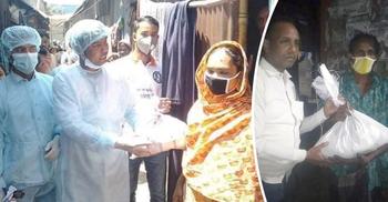 ঘরে ঘরে খাদ্যসামগ্রী পৌঁছে দিচ্ছেন এমপি বাবলা