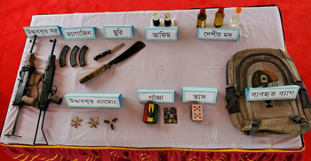 বান্দরবানে সেনাবাহিনীর অভিযানে অস্ত্র-মাদক জব্দ
