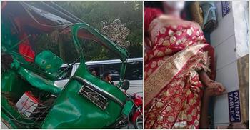 বিয়ের দিন সড়কে প্রাণ গেলো দুলাভাই-ভাতিজির, কনে হাসপাতালে