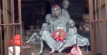 কলকাতার পূজামণ্ডপের থিমে 'ভাগের মা'