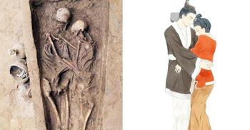 এক কবরে আলিঙ্গনরত দম্পতির ১৫০০ বছর