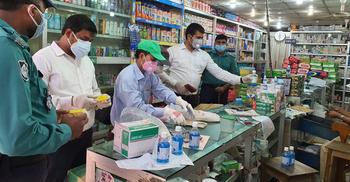 চট্টগ্রামে অনুমোদনহীন হ্যান্ড স্যানিটাইজার জব্দ, জরিমানা
