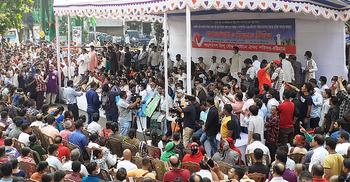 মণ্ডপে হামলার প্রতিবাদে চট্টগ্রামে গণঅনশন