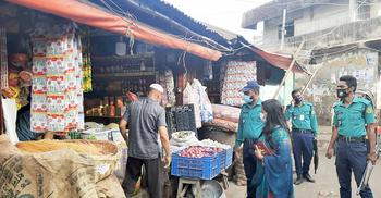 স্বাস্থ্যবিধি নিশ্চিতে চট্টগ্রামে অভিযান, ১৩ হাজার টাকা জরিমানা