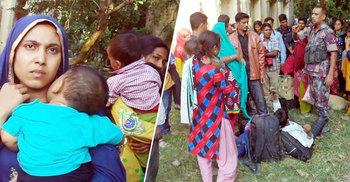 বাংলাদেশে প্রবেশে ভারতীয় সীমান্তে অপেক্ষায় অসংখ্য নারী-পুরুষ