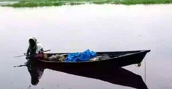 স্বামীর কাজ বন্ধ, নদীতে মাছ ধরে সংসার চালাচ্ছেন দিলারা