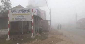 ঘন কুয়াশায় দৌলতদিয়া-পাটুরিয়া রুটে ফেরি চলাচল বন্ধ