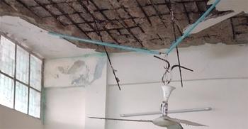 শরীয়তপুর সদর হাসপাতালে আবারও খসে পড়ল পলেস্তারা