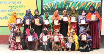 ঝিনাইদহে ক্ষুধা জয়ী ১৫ নারীকে সম্মাননা