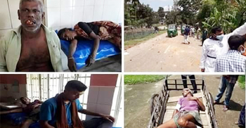 নারীর করোনা হয়েছে গুজবে সংঘর্ষ, আহত অর্ধশতাধিক