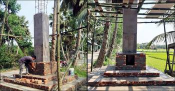 চাঁদপুরে নির্মিত হচ্ছে 'আল্লাহ স্তম্ভ'