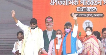 Mithun joins BJP ahead of Modi's rally in West Bengal