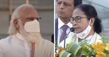 'জয় শ্রীরাম' স্লোগান শুনেই বক্তৃতা বন্ধ করলেন মমতা