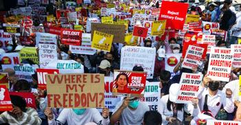 মিয়ানমারে আরও প্রতিবাদের পরিকল্পনা