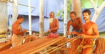 নেছারাবাদে ছোবড়া শিল্পে অপার সম্ভাবনা