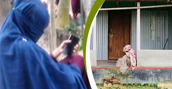টাঙ্গাইলে স্ত্রীর অধিকার ও বিয়ের দাবিতে দুই নারীর অনশন