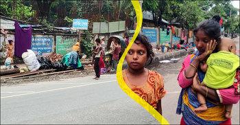 'কাঁথা-বালিশ সব ভিইজ্যা গেছে, সারা রাইত ঘুমাইতে পারি নাই'