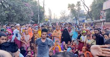 নারায়ণগঞ্জে যুবকের মরদেহ নিয়ে সড়ক অবরোধ