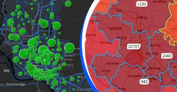 রেড জোন : ঢাকার যে ২৩ এলাকায় করোনা রোগী বেশি