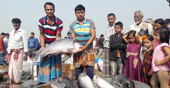 মেলায় জামাই-শ্বশুরের মাছ কেনার প্রতিযোগিতা