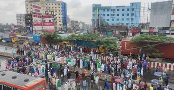 আলাউদ্দিন জিহাদির মুক্তির দাবিতে কুমিল্লায় মহাসড়ক অবরোধ