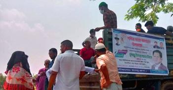 রূপগঞ্জে খাদ্যপণ্য নিয়ে ছুটছে 'মানবতার গাড়ি'