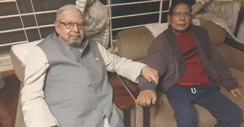অসুস্থ বিএনপি নেতার বাসায় প্রবাসী কল্যাণমন্ত্রী