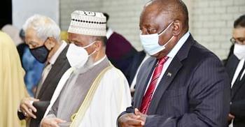 মুসলিমদের সঙ্গে দক্ষিণ আফ্রিকার রাষ্ট্রপতির নামাজ