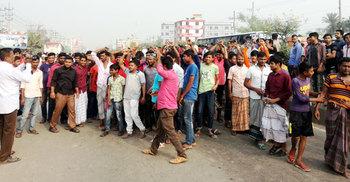 ঢাকা-ময়মনসিংহ মহাসড়ক অবরোধ করেছে পরিবহন শ্রমিকরা