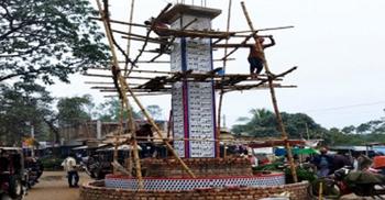 আল্লাহর গুণবাচক নামের দৃষ্টিনন্দন স্তম্ভ হচ্ছে রংপুরে
