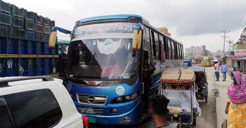 ঢাকা-টাঙ্গাইল মহাসড়কে যানজট