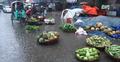 কারওয়ান বাজারে পানিতে ভাসছে কুমড়া-কলা-বেগুন