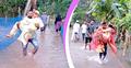জোয়ারে তলিয়ে গেছে বিয়েবাড়ি, কোলে পার হলেন বর-কনে